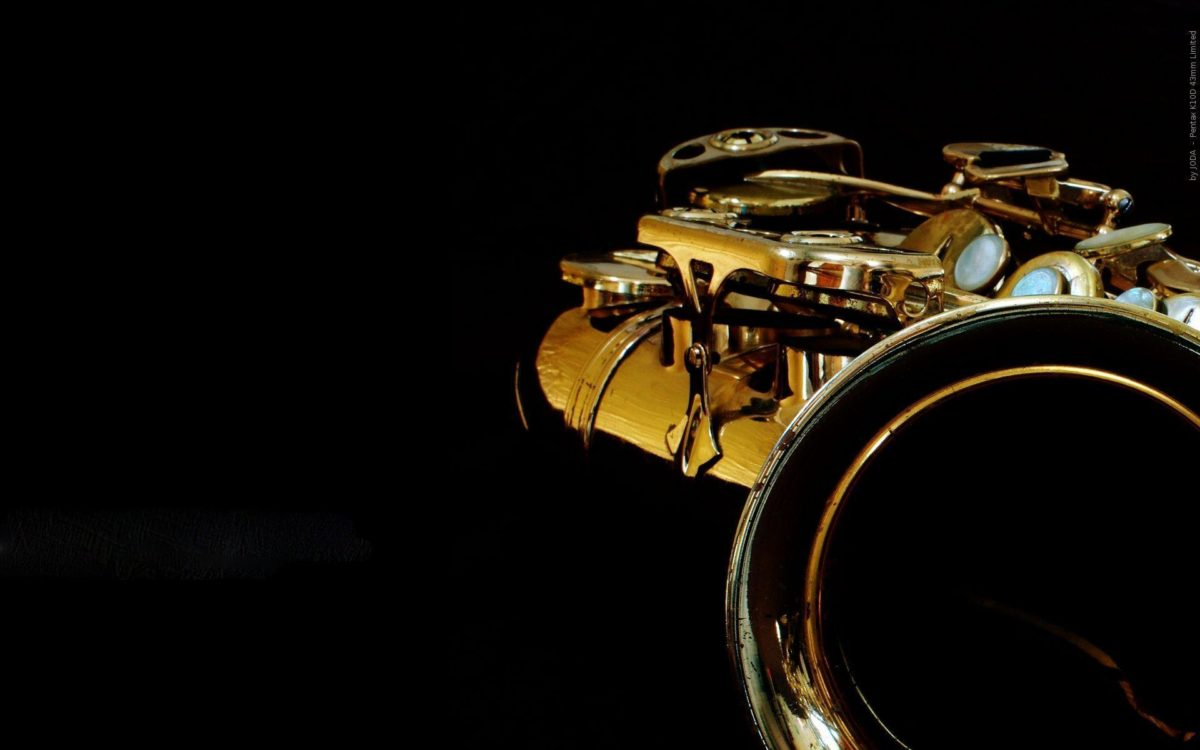 Shiny Saxophone iPhone Wallpaper high res theme.