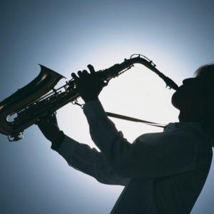 download Images For > Blue Saxophone Wallpaper