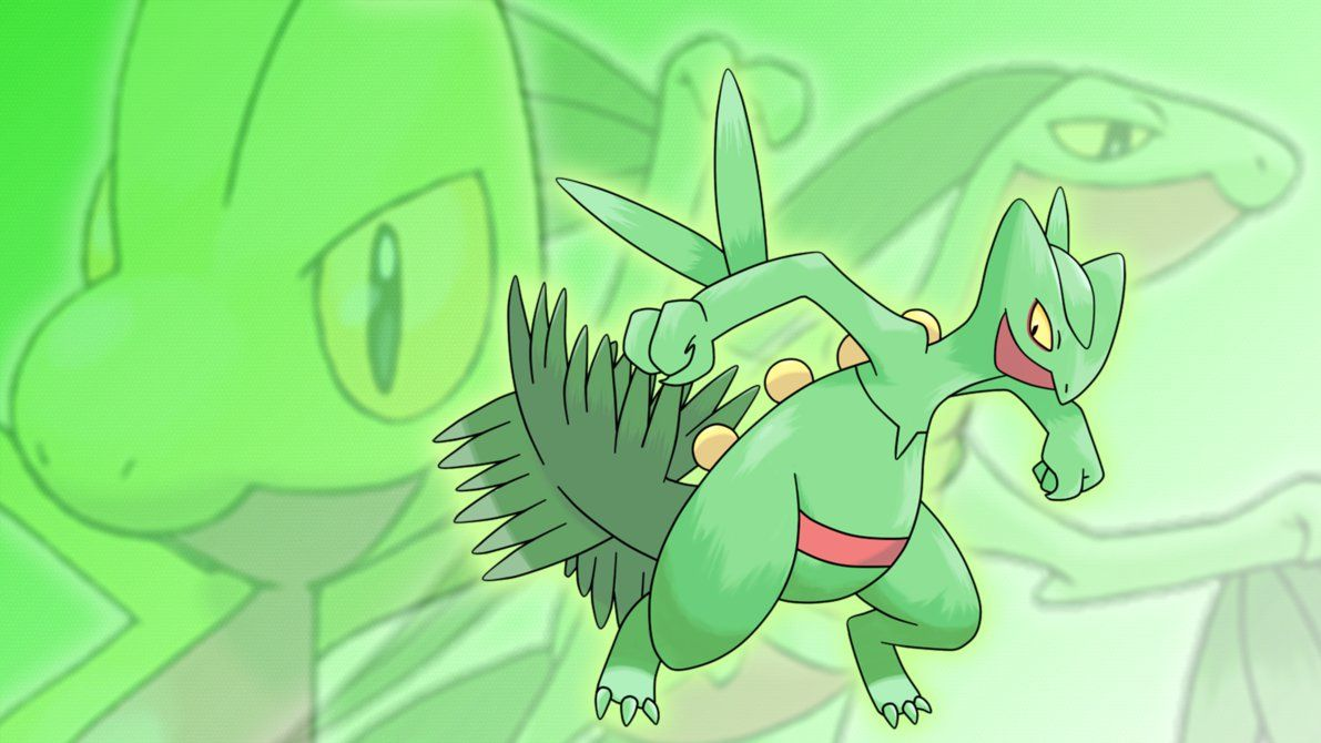 Treecko, Grovyle, and Sceptile Wallpaper by Glench on DeviantArt
