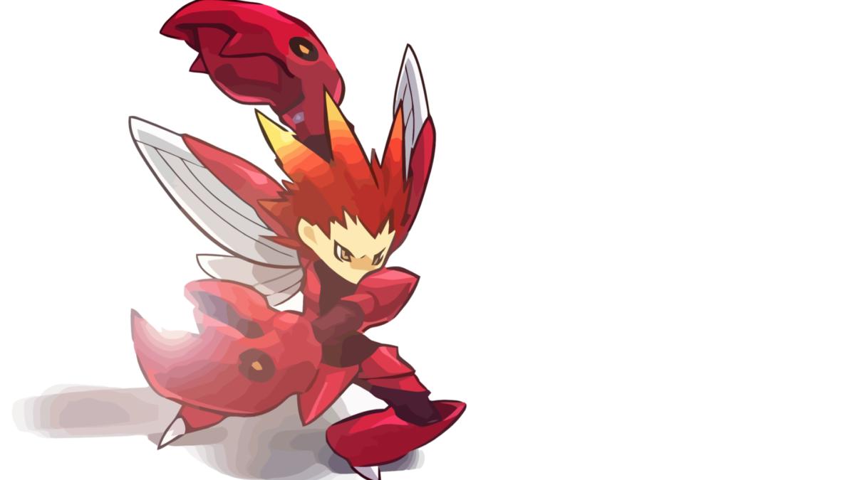 ScreenHeaven: Hitec Pokemon Scizor simple background desktop and …