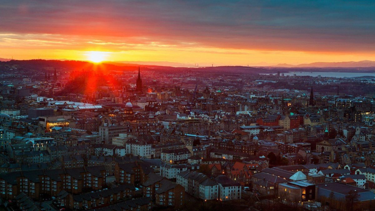 Sunset in Edinburgh, Scotland wallpapers and images – wallpapers …