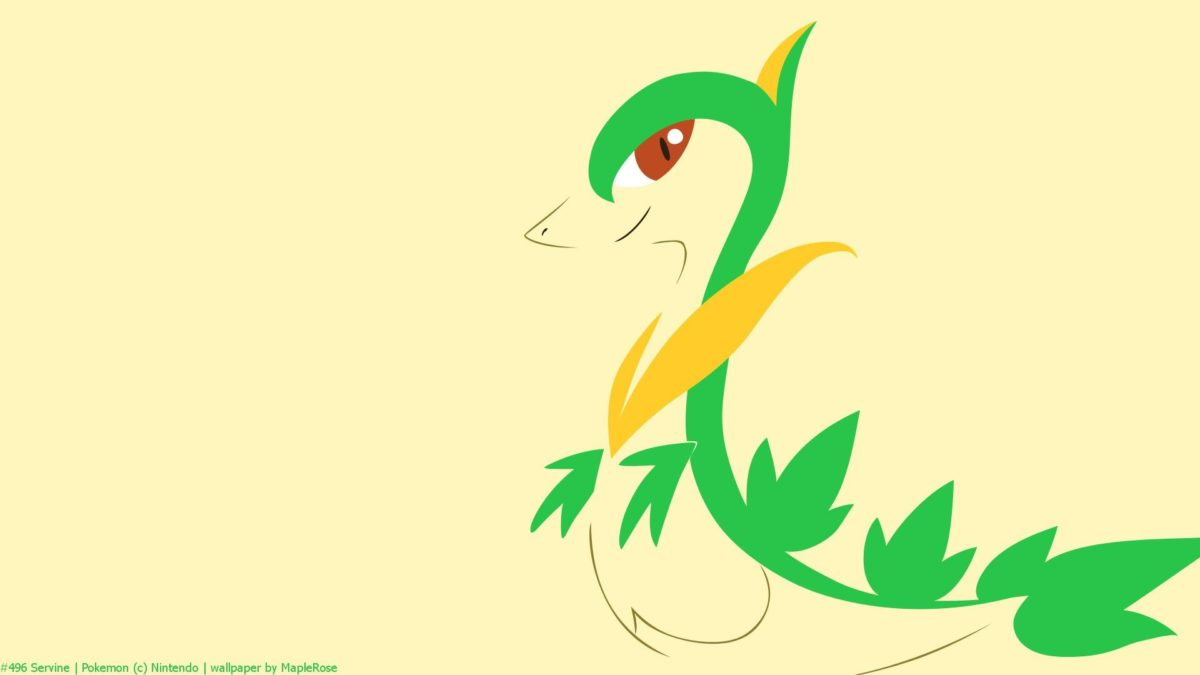 Minimal, Pokemon, Pokemon Generation V, Servine HD Wallpaper …