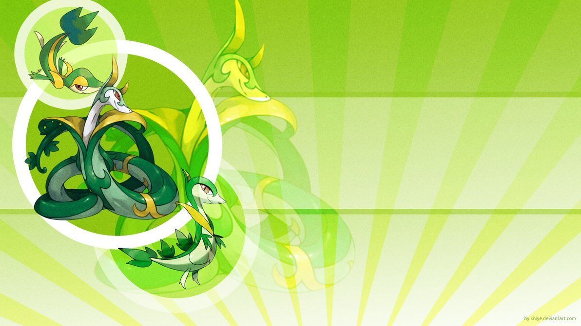 Snivy, Servine and Serperior by Kniye on DeviantArt