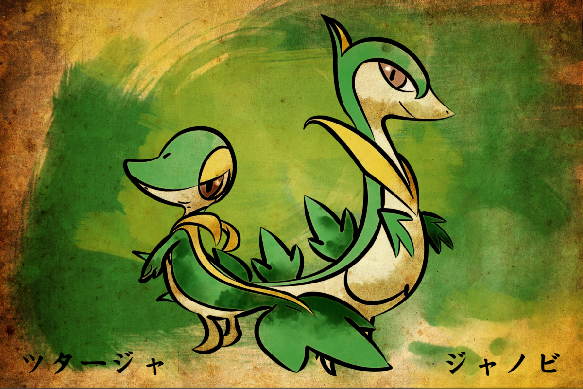 Snivy and Servine by MatthewSheffield on DeviantArt