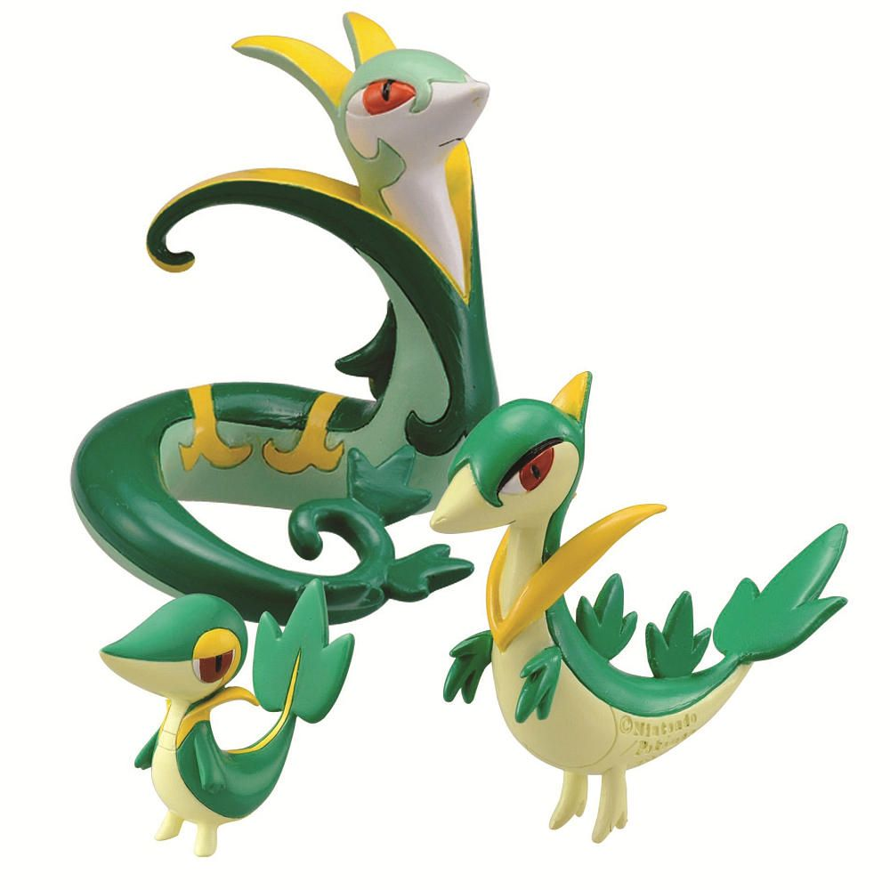 Pokemon Evolution 3-Pack – Snivy/ Servine/ Serperior – TOMY – Toys …