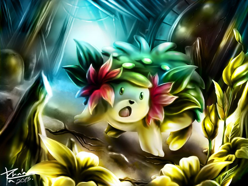 THE LIGHT OF SHAYMIN by TrachaaArMy on DeviantArt