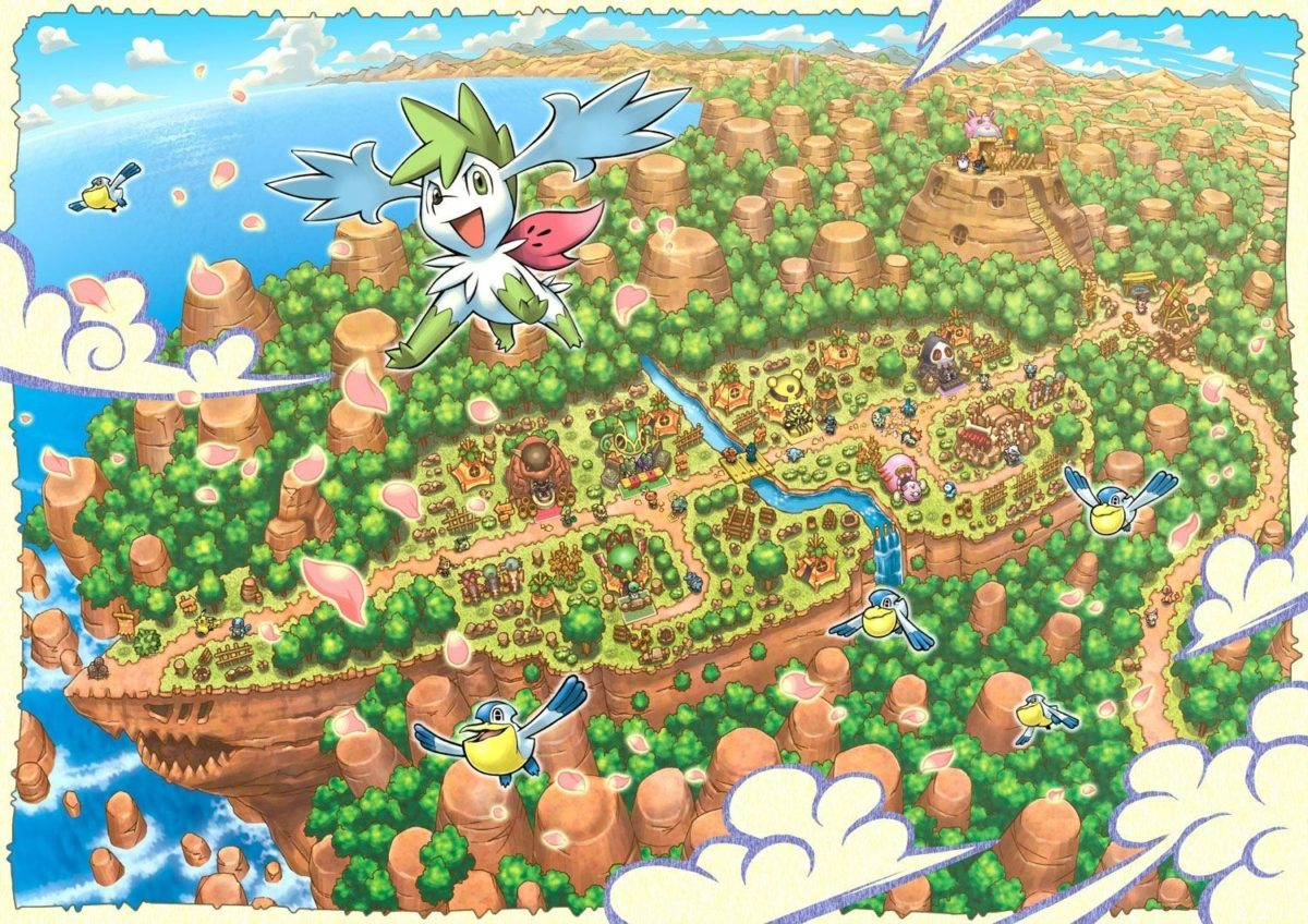 Pokemon Mystery Dungeon images Explore of Sky-Shaymin HD wallpaper …