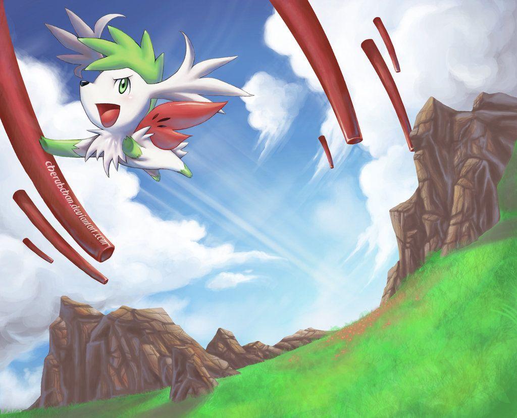 Shaymin: Sky Warrior by cherubchan on DeviantArt