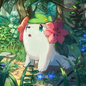 download Download 1600×900 Pokemon Shaymin, Cute, Forest, Bubbles Wallpapers …