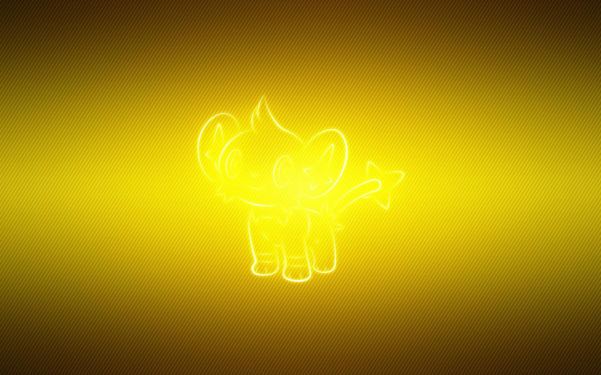 wallpaper shinx, pokemon, yellow HD : Widescreen : High Definition …