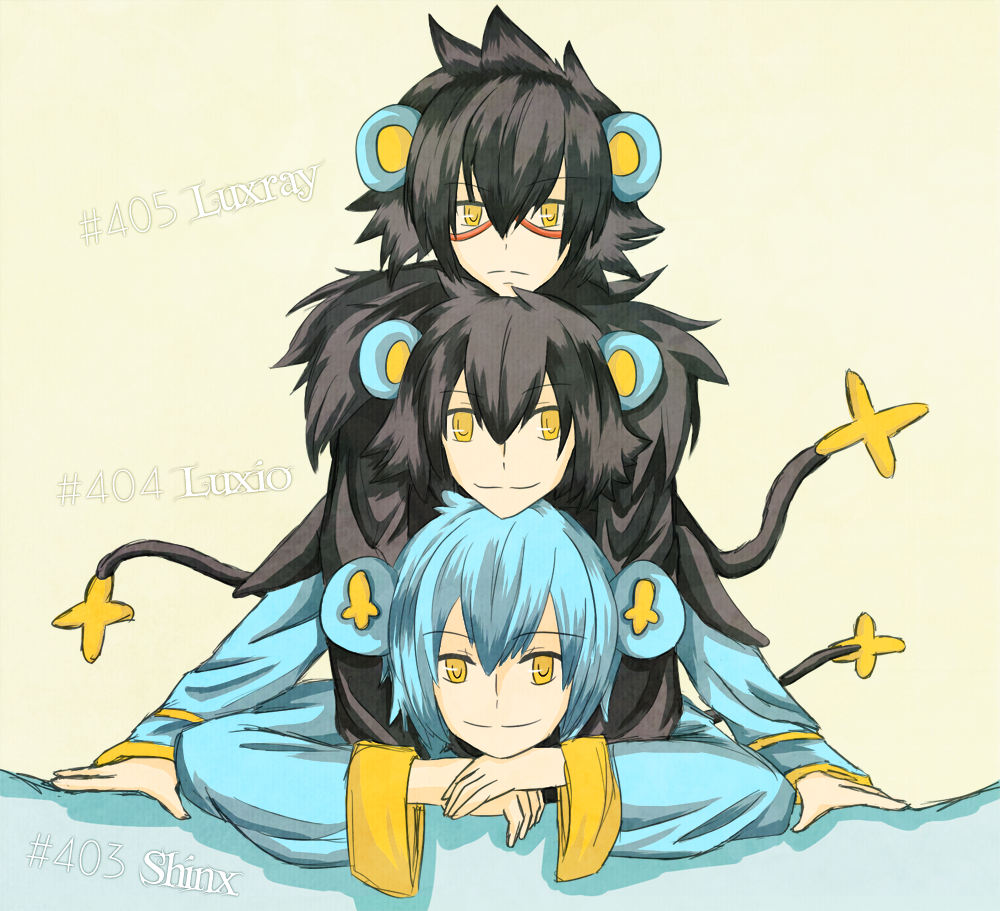 PKMN Gijinka – Shinx Family by brioche-of-destiny on DeviantArt