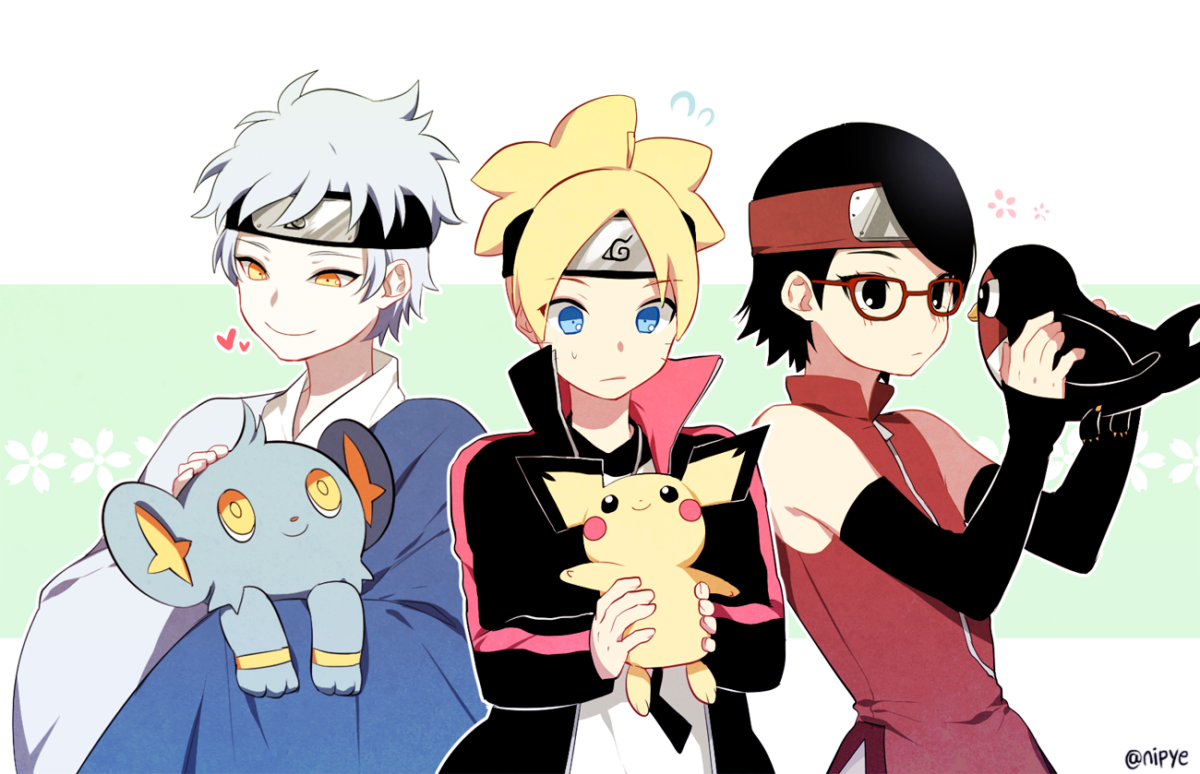 mitsuki, pichu, shinx, taillow, uchiha sarada, and others (boruto …