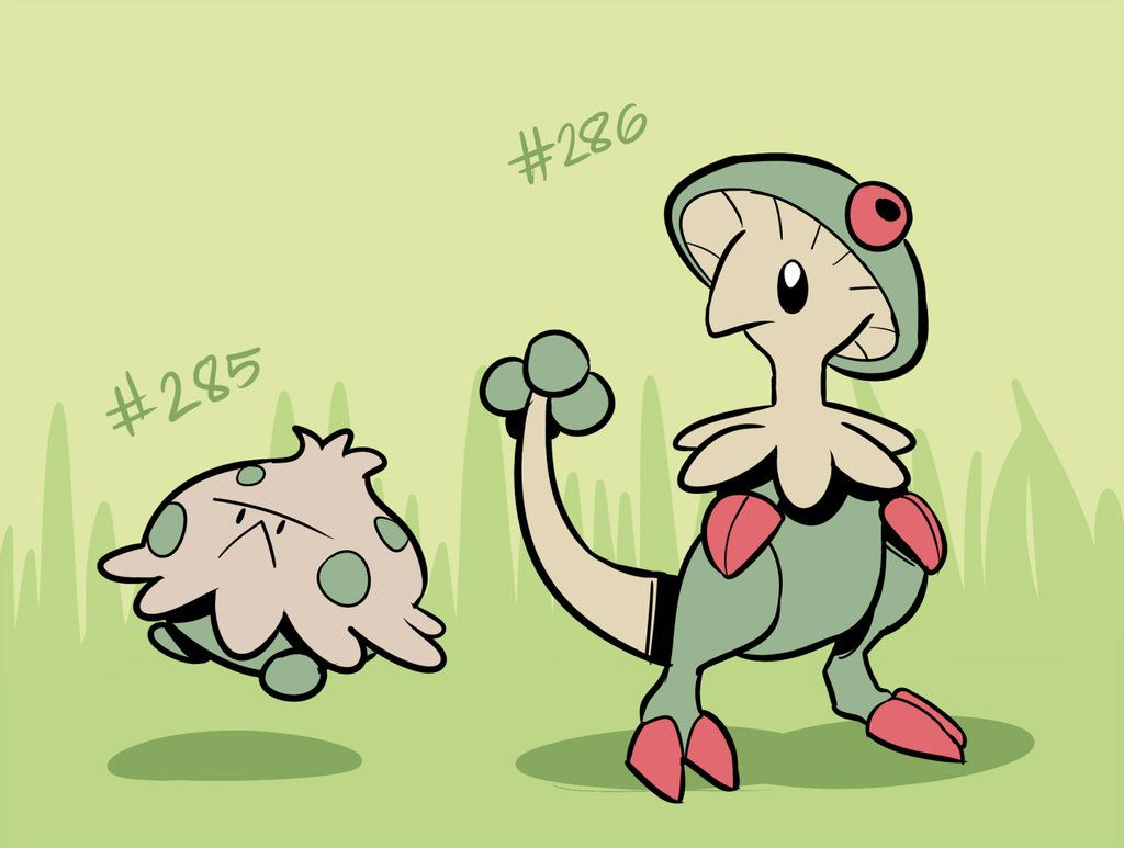 Shroomish, Breloom by RoastedStix on DeviantArt