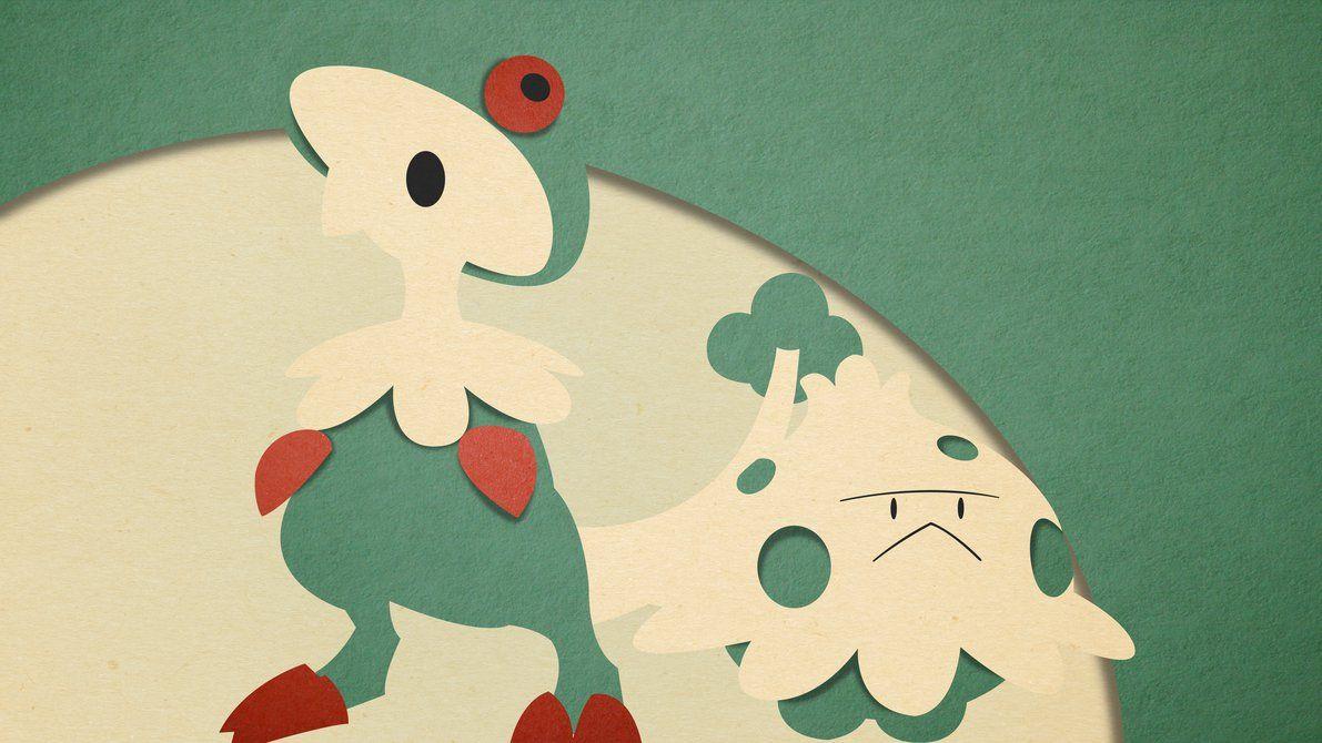 Shroomish and Breloom – Material Design by EugenianToons on DeviantArt
