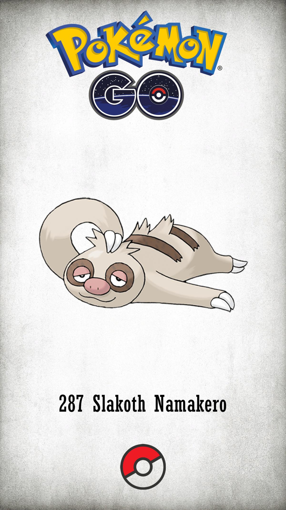 287 Character Slakoth Namakero | Wallpaper