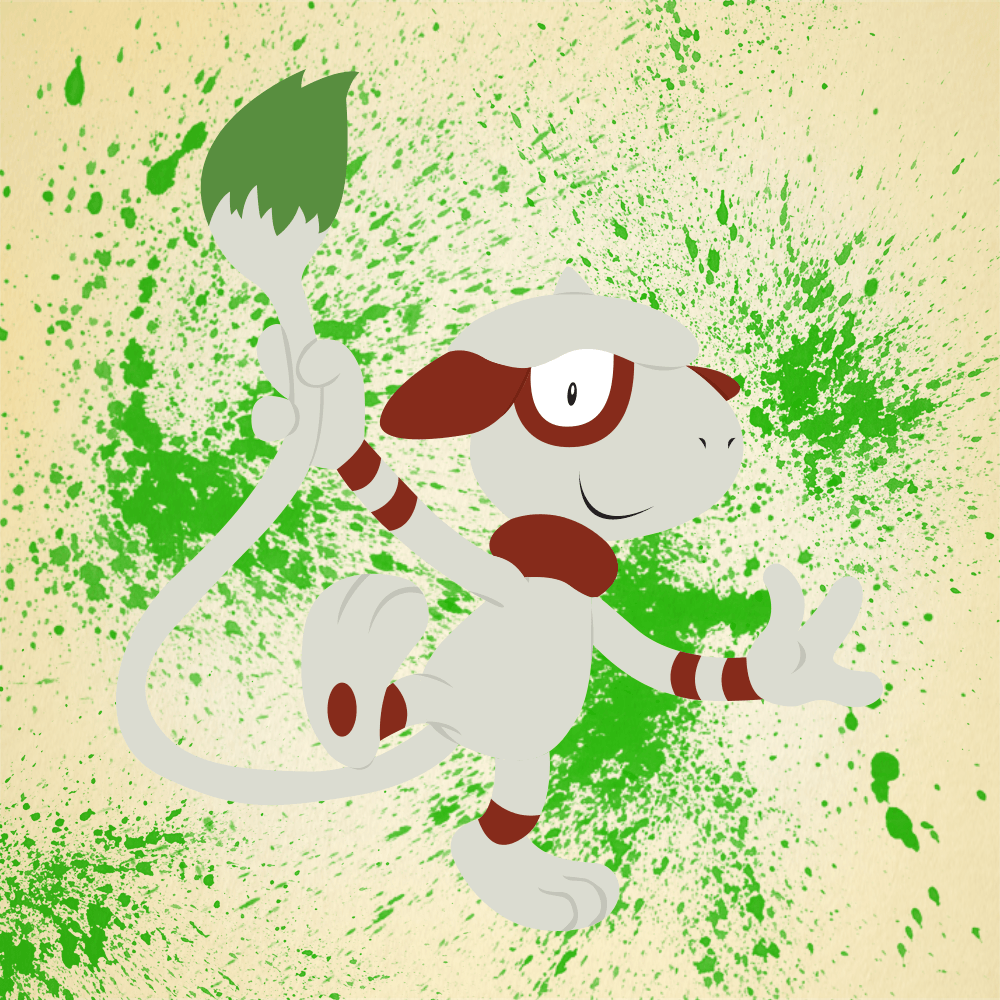Vector Smeargle (With Background) by Patofilio on DeviantArt