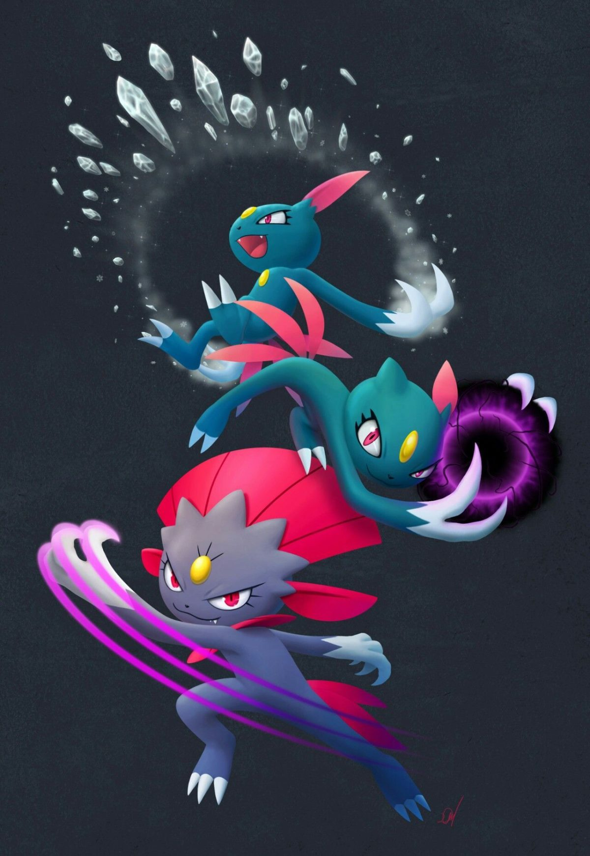 Sneasel and Weavile   Pokemon 2   Pinterest   Pokémon and Pokemon stuff