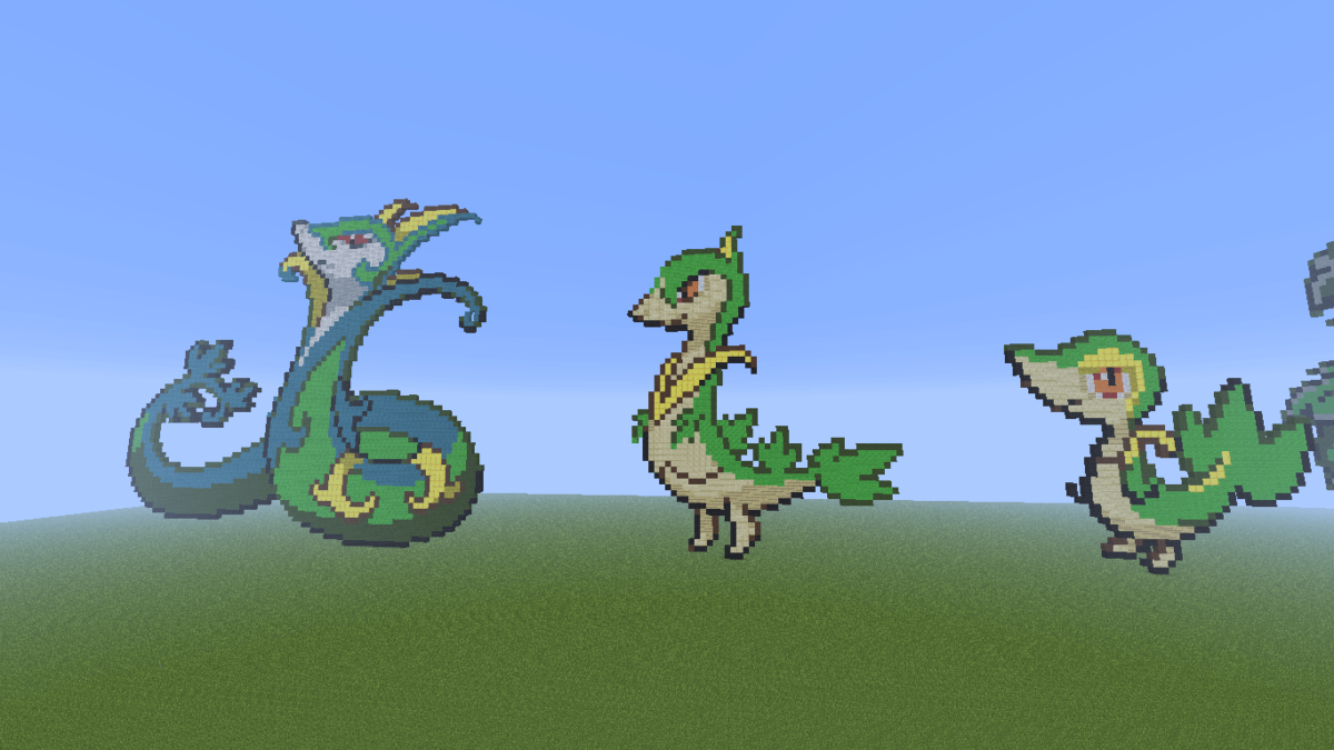Minecraft Pixel Art! images Snivy evolution family. HD wallpaper and …