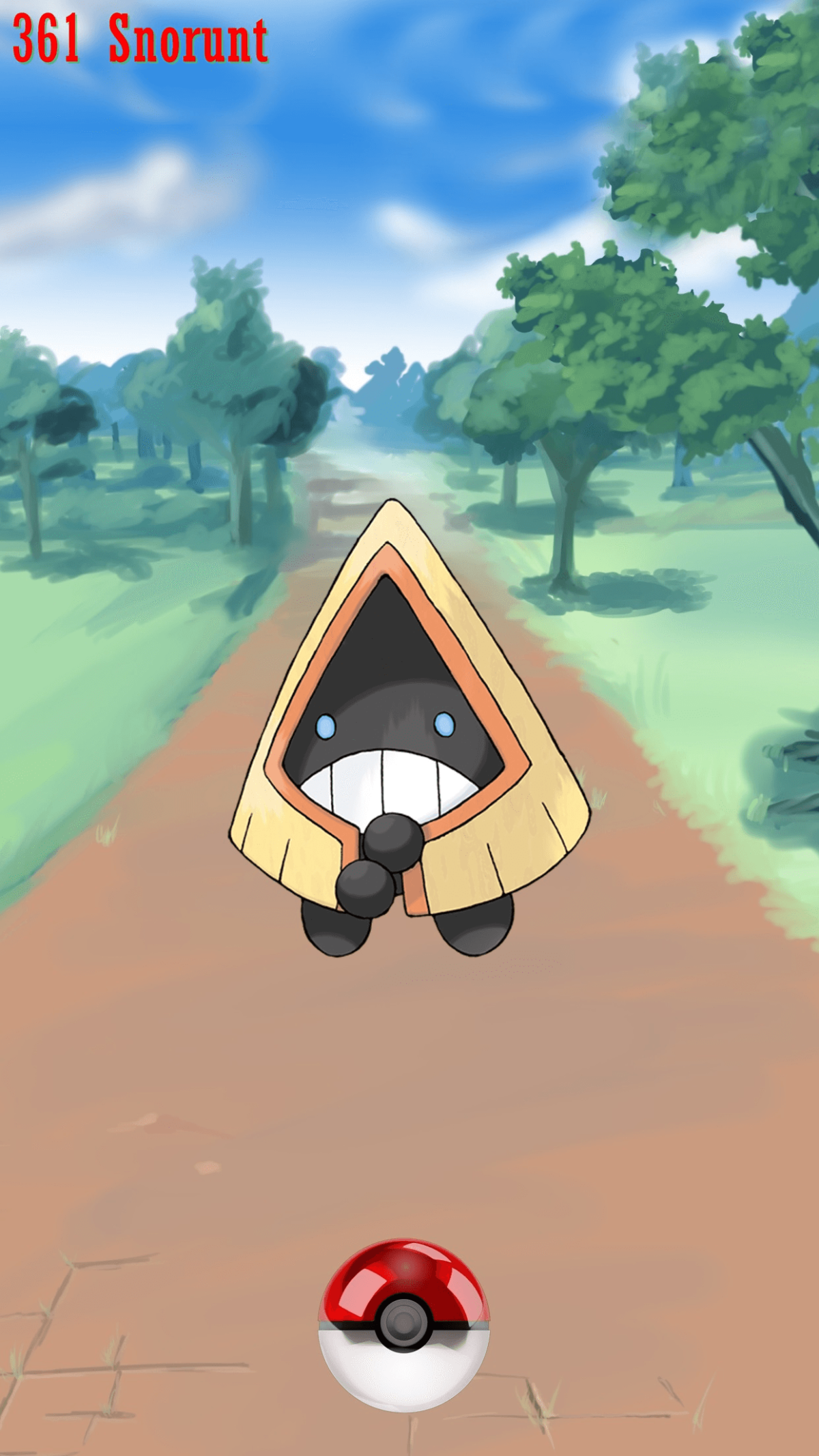 361 Street Pokeball Snorunt | Wallpaper