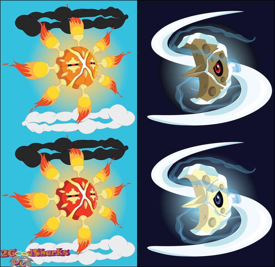 Mega Solrock and Mega Lunatone Designs by 2GoodSharks on DeviantArt