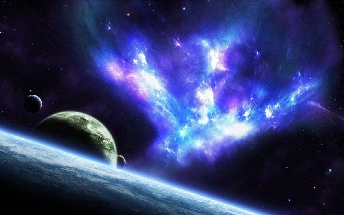 Blue Space wallpaper – 998755