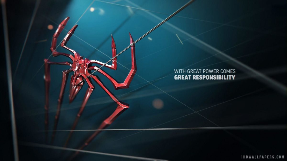 Spider Man Great Power HD 1080p Wallpaper | HD Wallpapers Source
