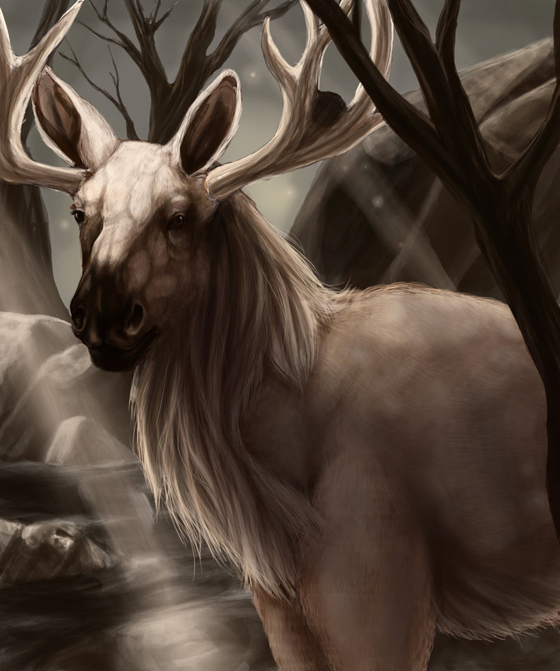 Realistic Stantler by Leashe on DeviantArt