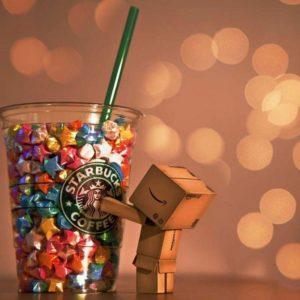 download Danbo Starbucks wallpaper for mobile phone