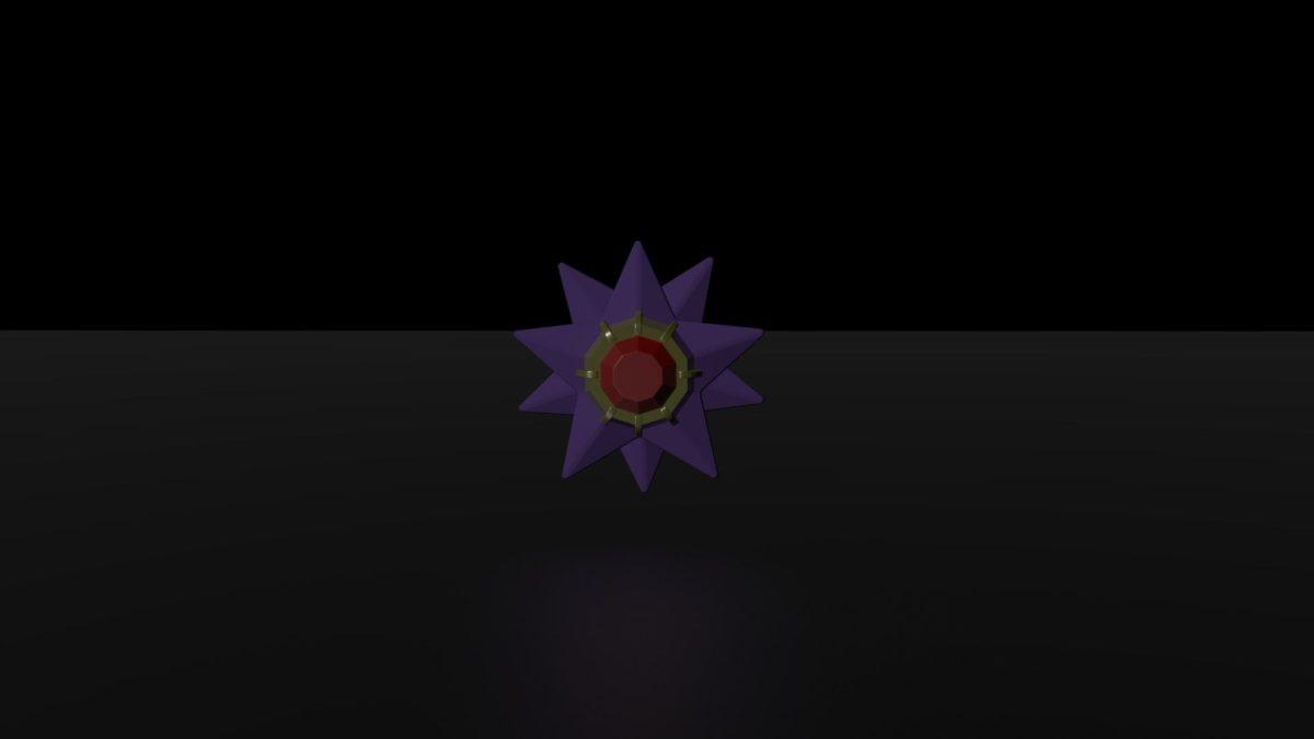 ArtStation – Pokemon: Starmie 3D Model, Adrian Jones