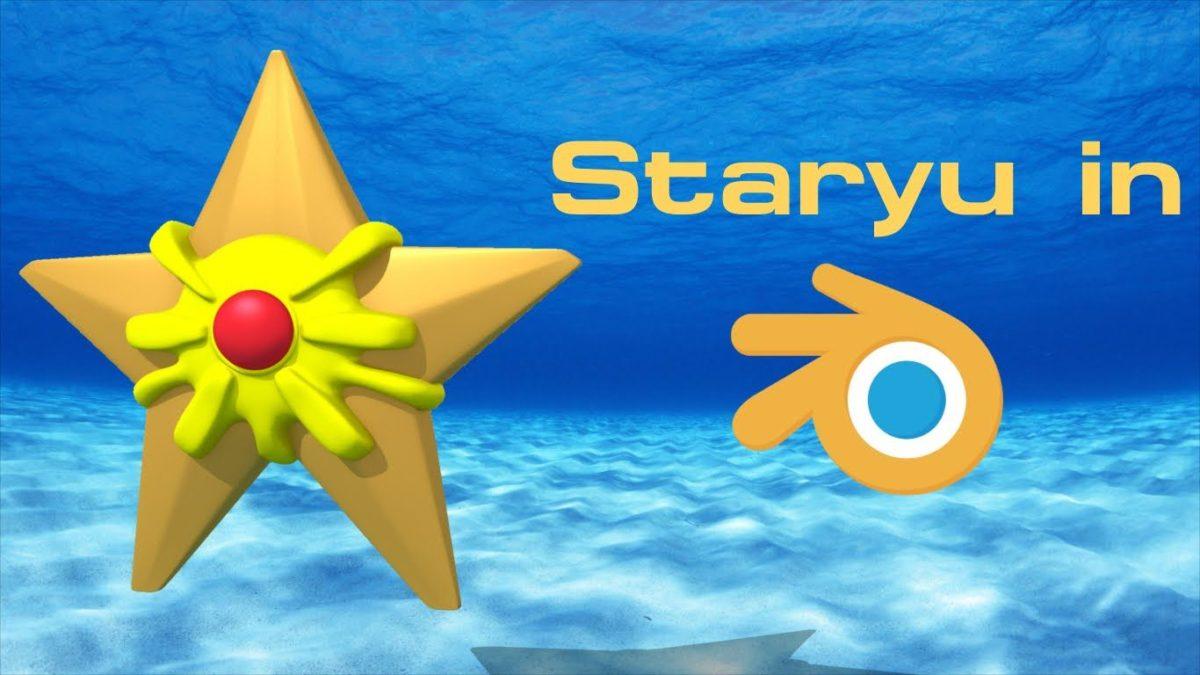 Staryu (Pokemon) – Blender Speed Modeling – YouTube