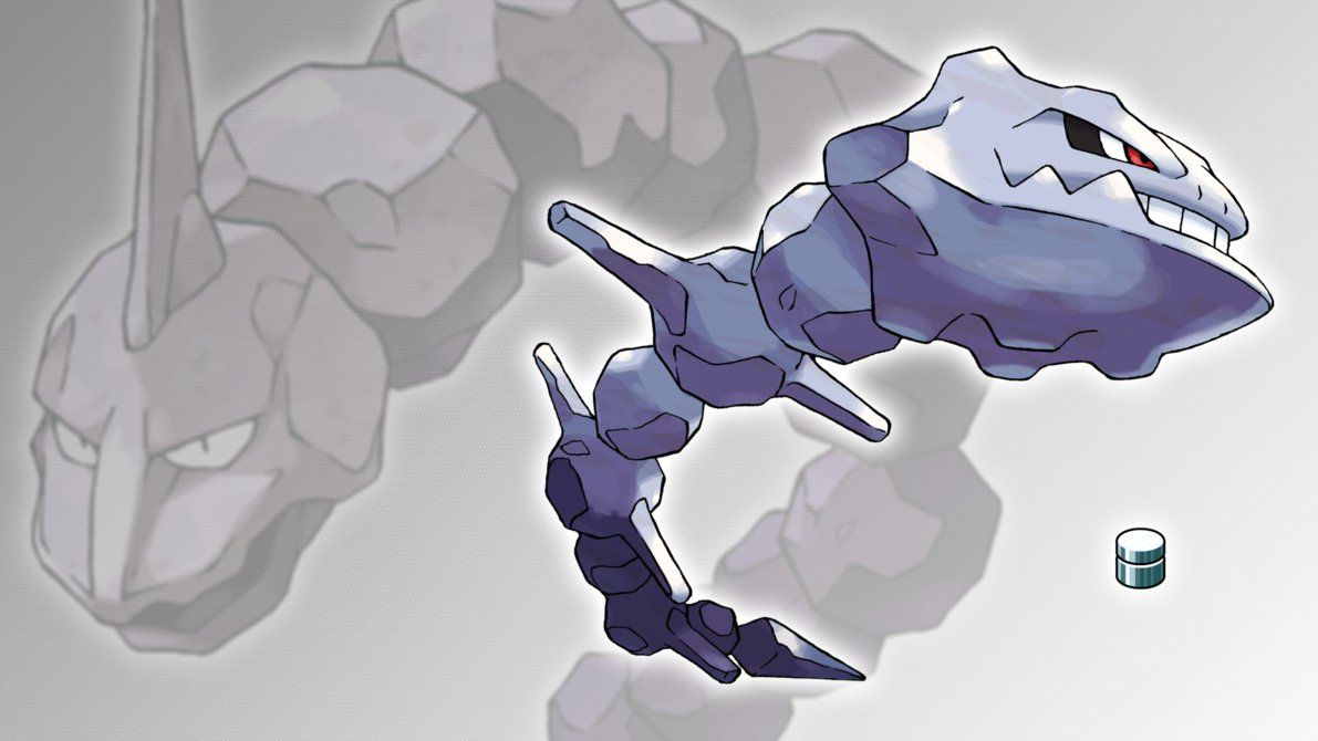 Onix and Steelix Wallpaper by Glench on DeviantArt
