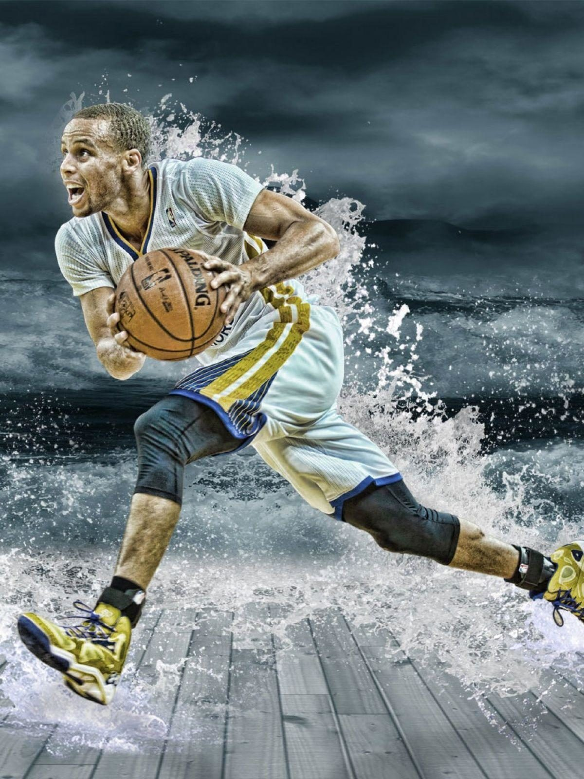 Stephen Curry Splash Mobile Wallpaper – Mobiles Wall