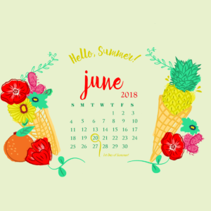 download June 2018 HD Calendar Wallpapers | Calendar 2018