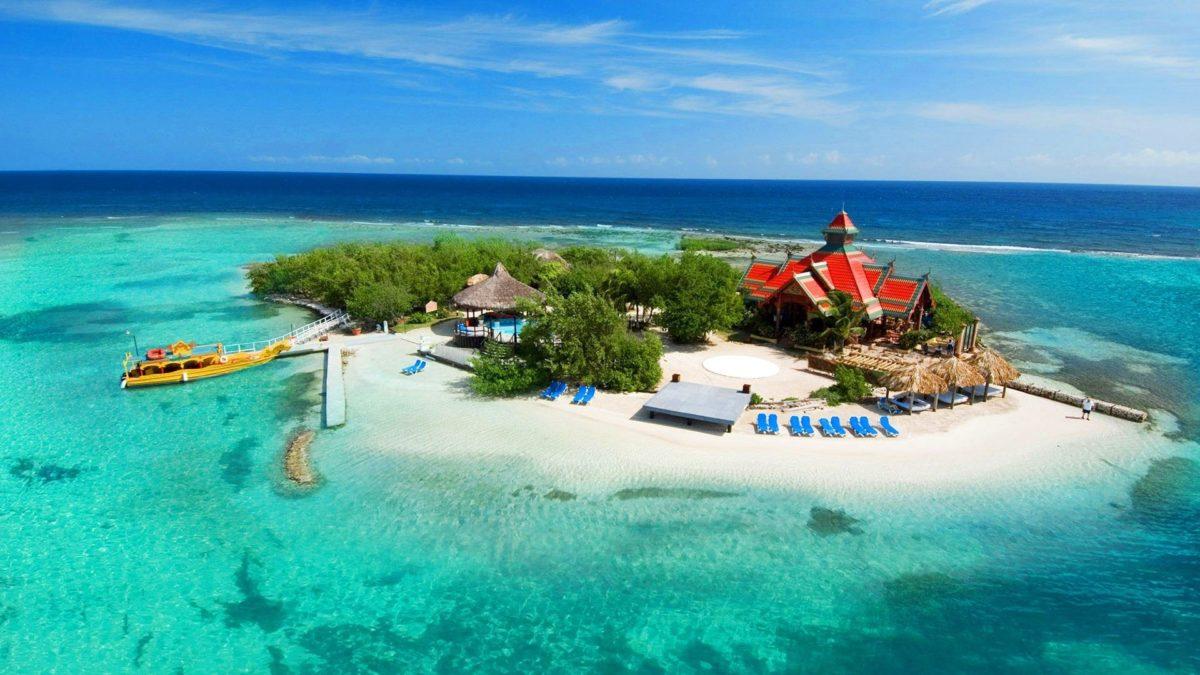 Beaches: Tropics Paradise Boat Ship Nature Sun Coast Trees House Hut …