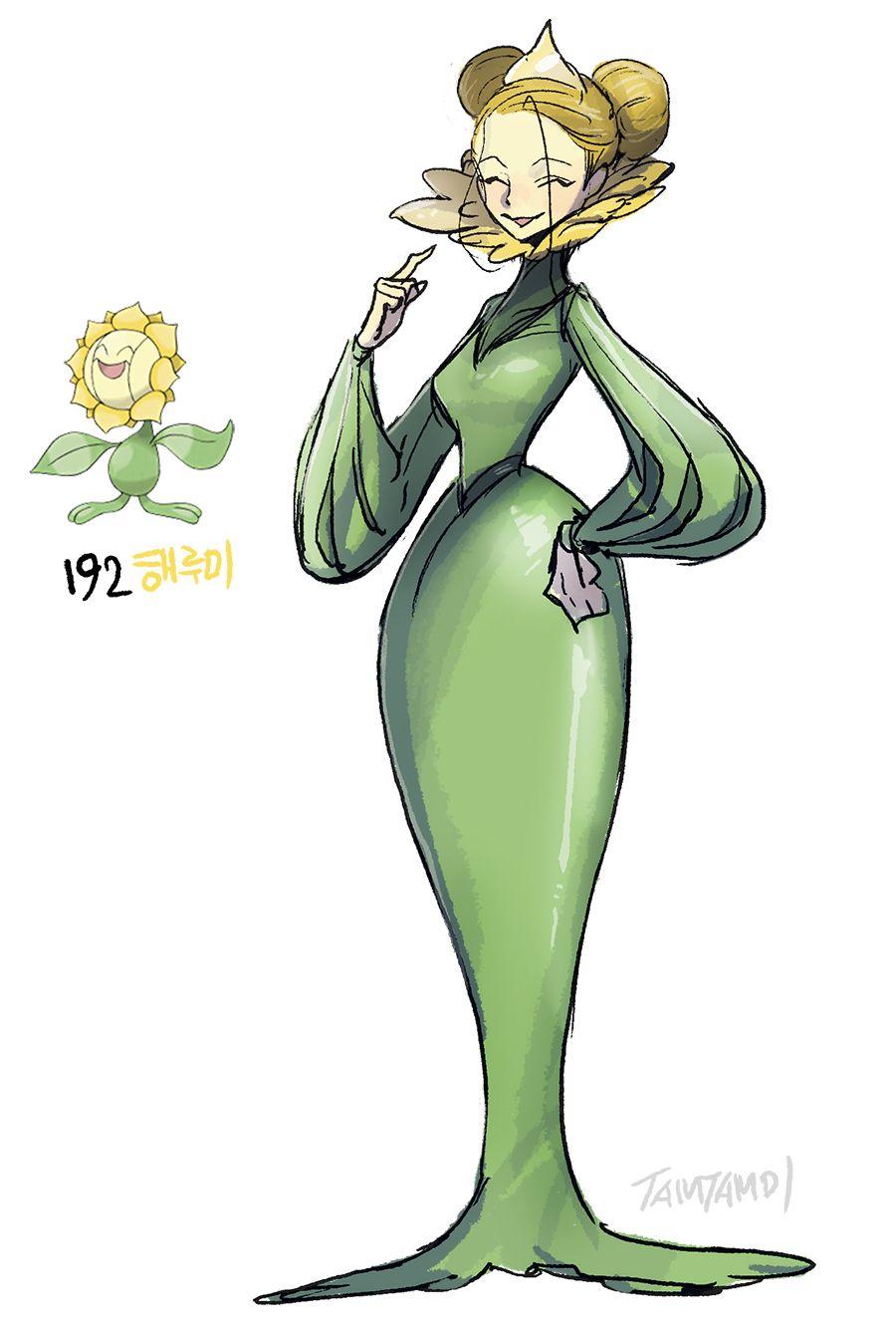 Pokemon Gijinka 191. Sunkern 192. Sunflora | pokémon gijinka …