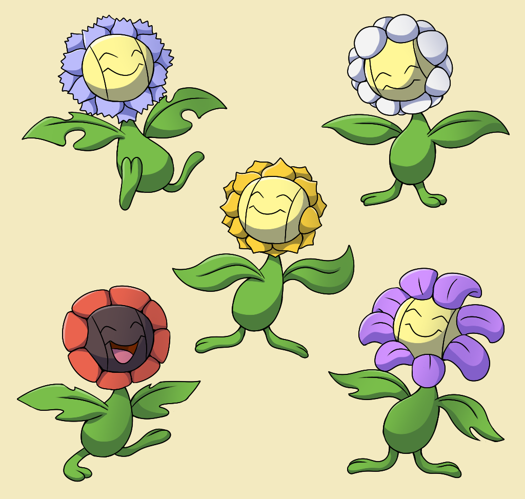 PokemonSubspecies: Sunflora by CoolPikachu29 on DeviantArt