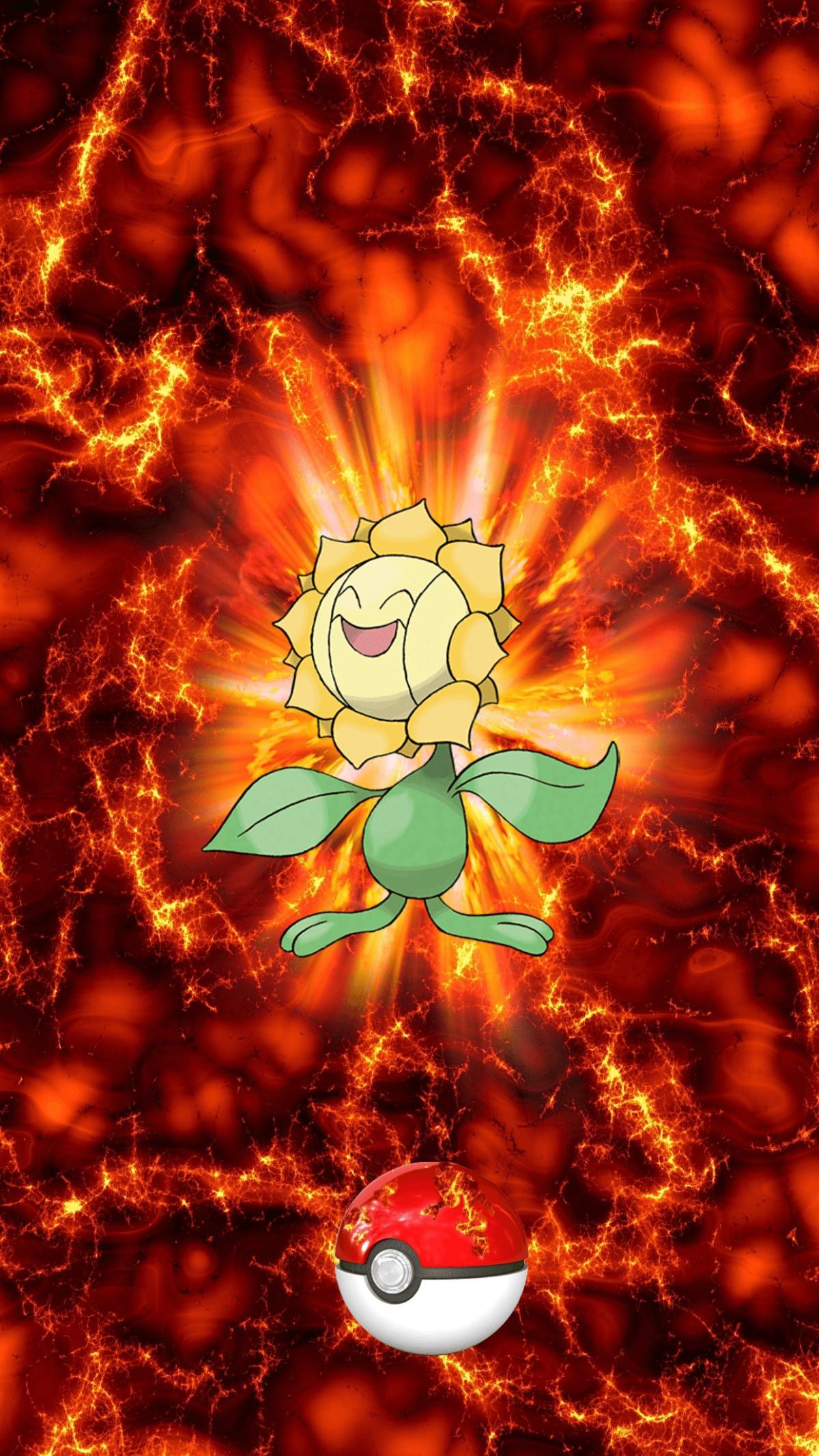 192 Fire Pokeball Sunflora Unknown Sunkern | Wallpaper