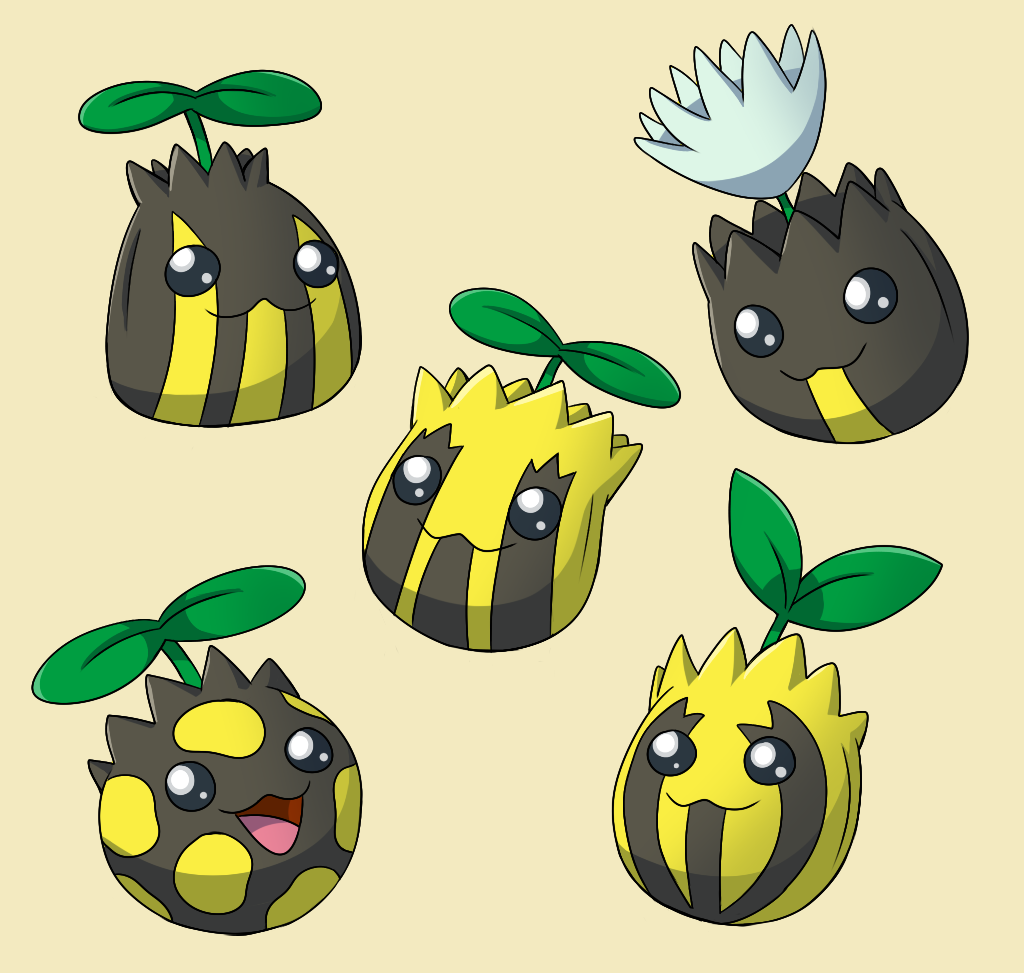 PokemonSubspecies: Sunkern by CoolPikachu29 on DeviantArt