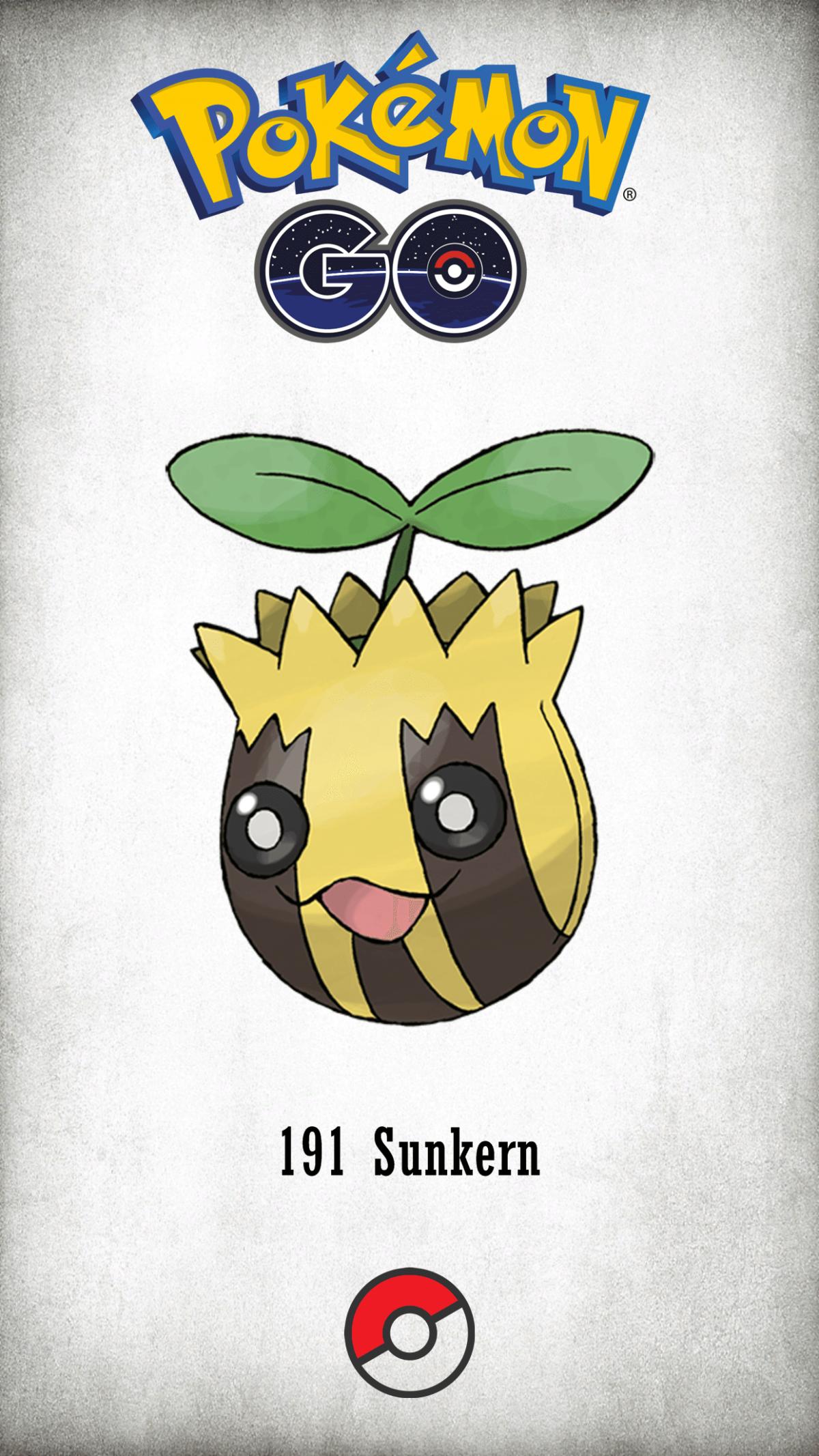 191 Character Sunkern | Wallpaper
