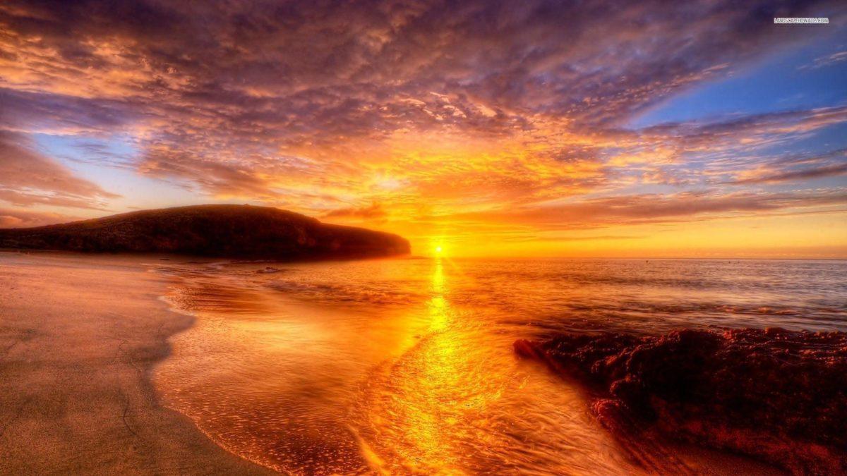 Shore at Sunrise wallpaper #