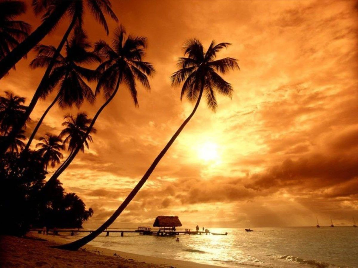 Island Sunset Wallpapers | Hd Wallpapers