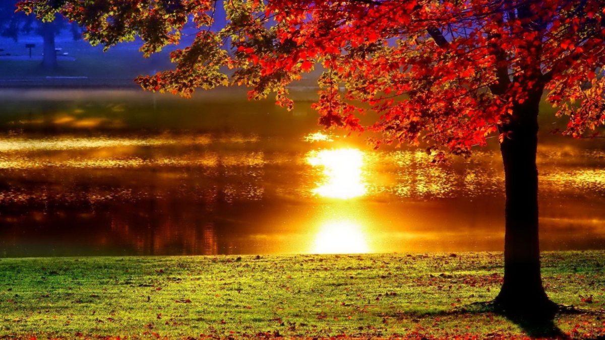 LAKESIDE SUNSET REFLECTION Desktop Background | Desktop Backgrounds HQ