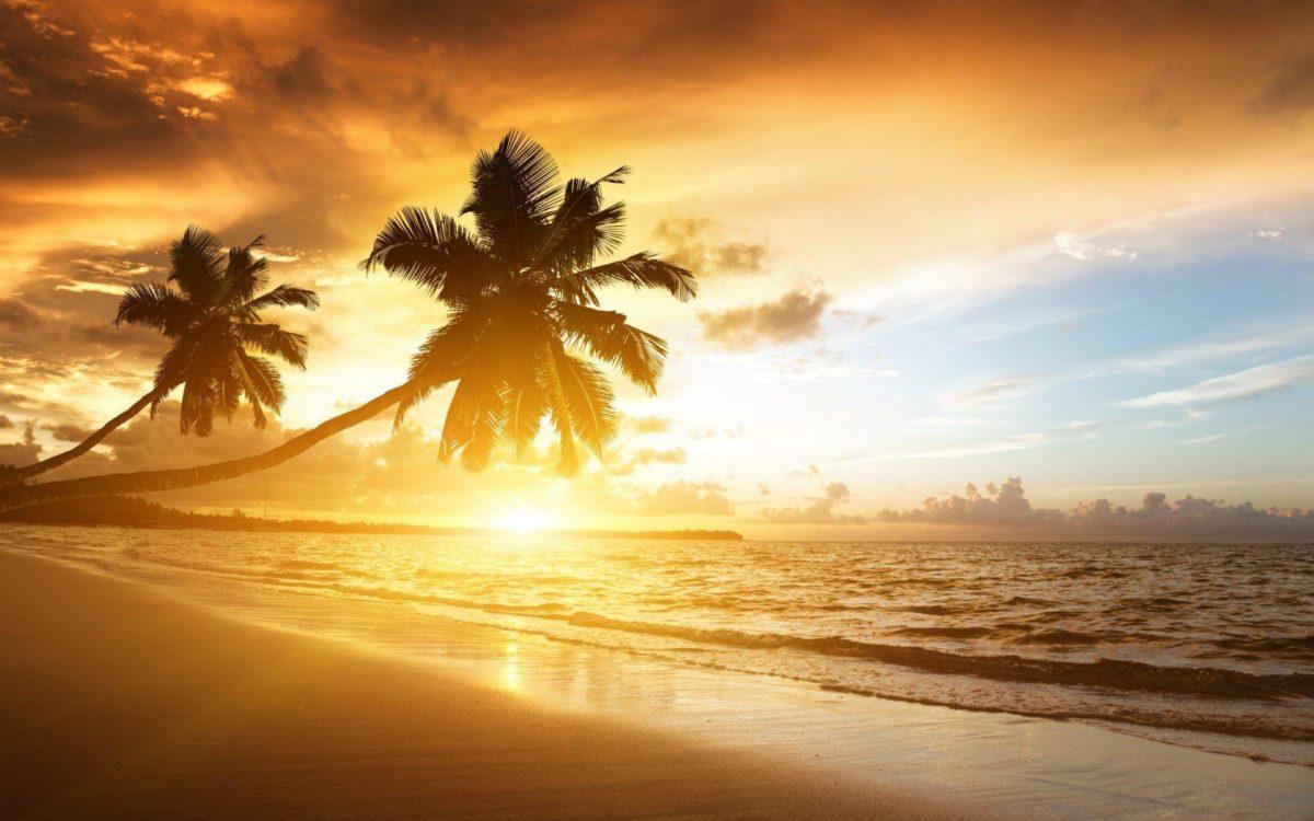 Beach Sunset Background Wallpaper 301 Full HD Wallpaper Desktop …