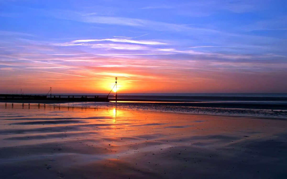 Wallpapers For > Beach Sunset Backgrounds For Computer