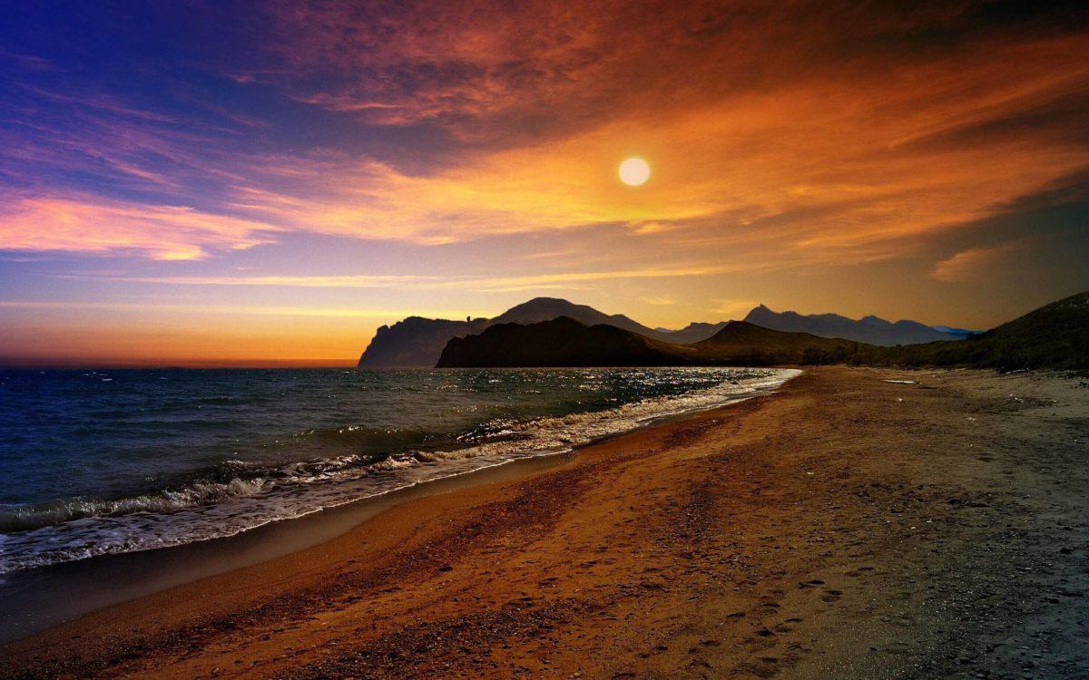 Mountain Sunset Backgrounds, wallpaper, Mountain Sunset …