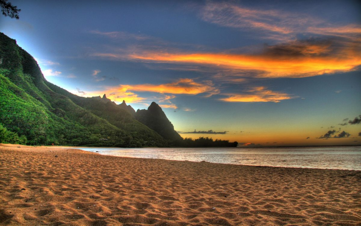Wallpapers For > Beautiful Beach Sunset Backgrounds