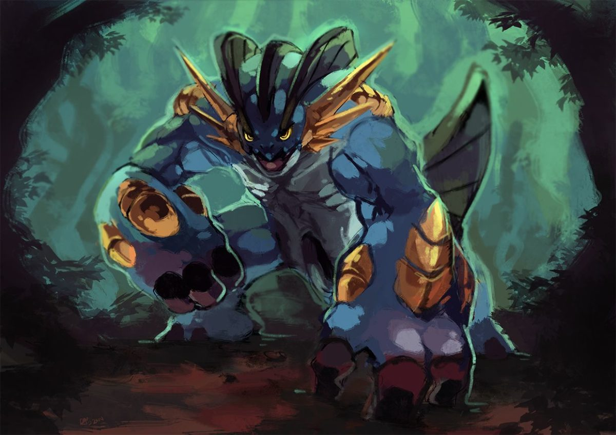 Mega Swampert by Garmmon on DeviantArt