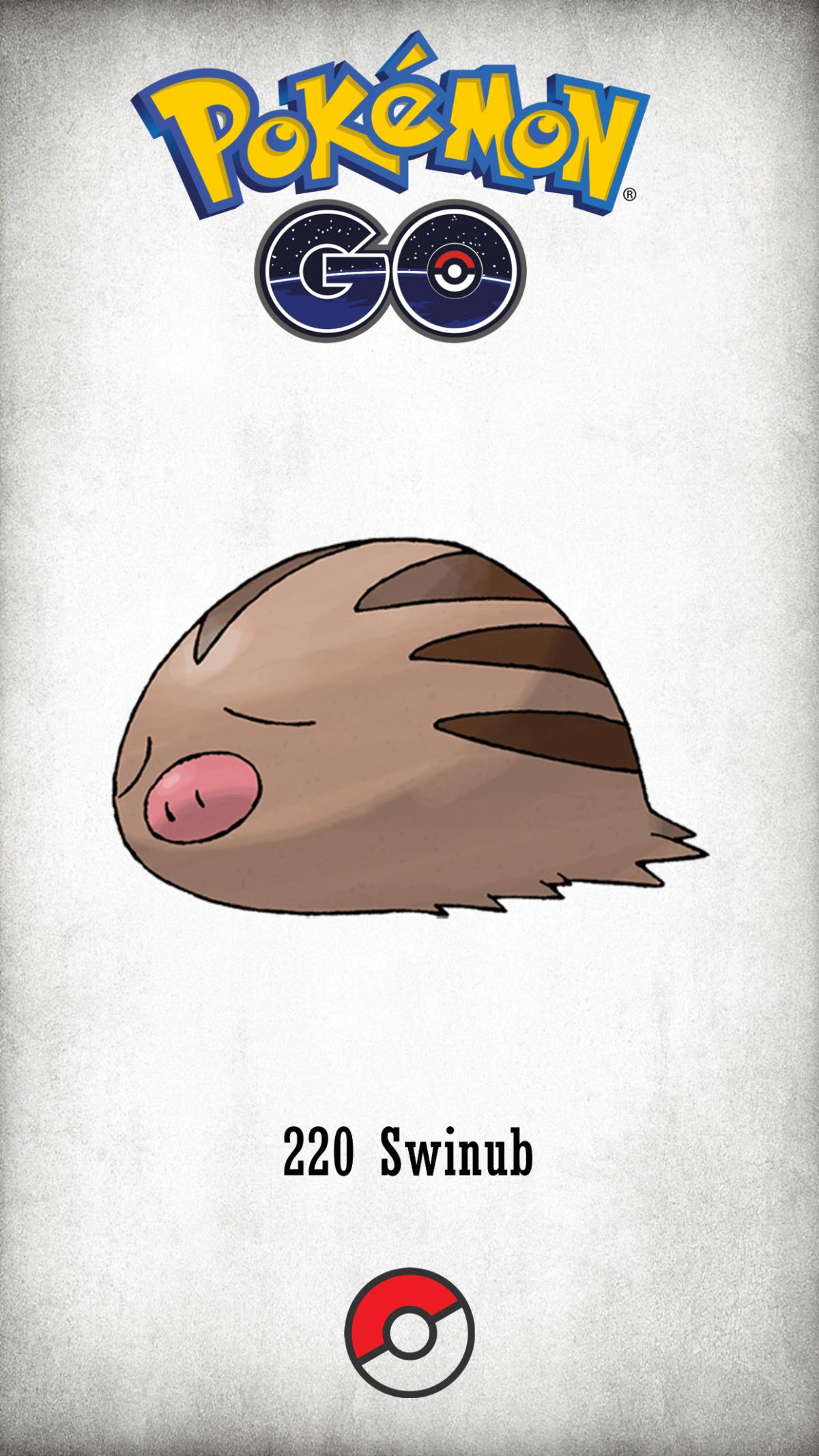 220 Character Swinub | Wallpaper