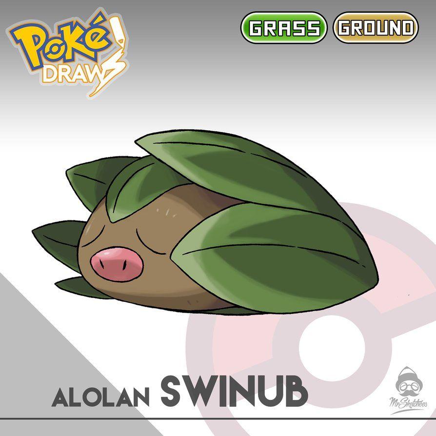 Alolan Swinub by MrSketchees by MrSketchees on DeviantArt
