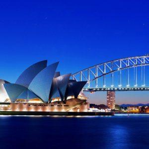 download Sydney Opera House and Bridge Wallpaper – HD Wallpapers